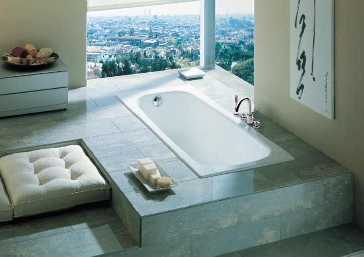 Rectangular cast iron bath | Cast iron baths | Without whirlpool ...