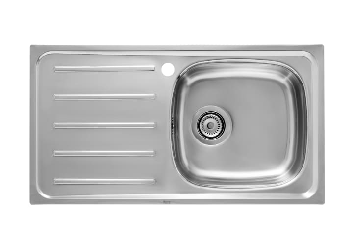 Magnificent Stainless Steel Single Bowl Kitchen Sink And Left Drainer Home Interior And Landscaping Oversignezvosmurscom
