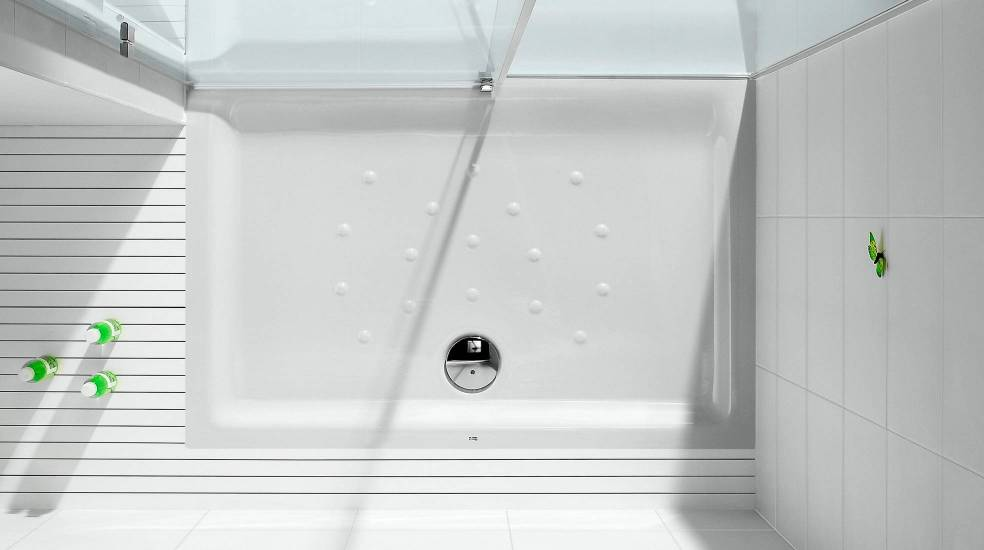 Vitreous china shower tray by Roca