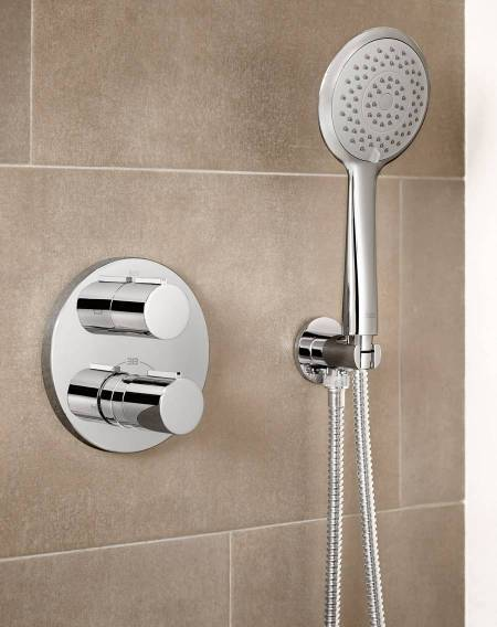 T-1000 Built-in thermostatic bath-shower mixer with diverter-flow regulator