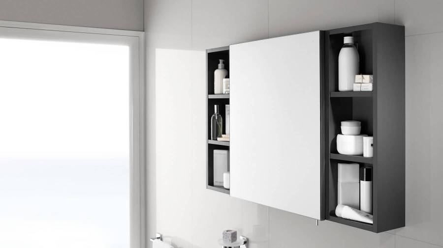 Luna cabinet mirror by Roca