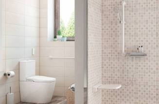 Bathroom space with Roca