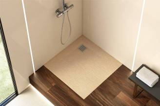 Terran shower tray with arena finish