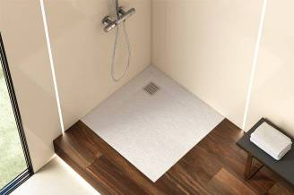 Terran shower tray with white finish