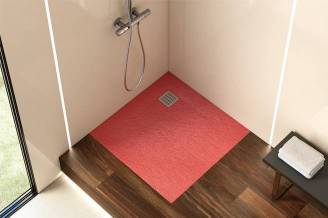 Terran shower tray with coral finish