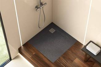 Terran shower tray with slate finish