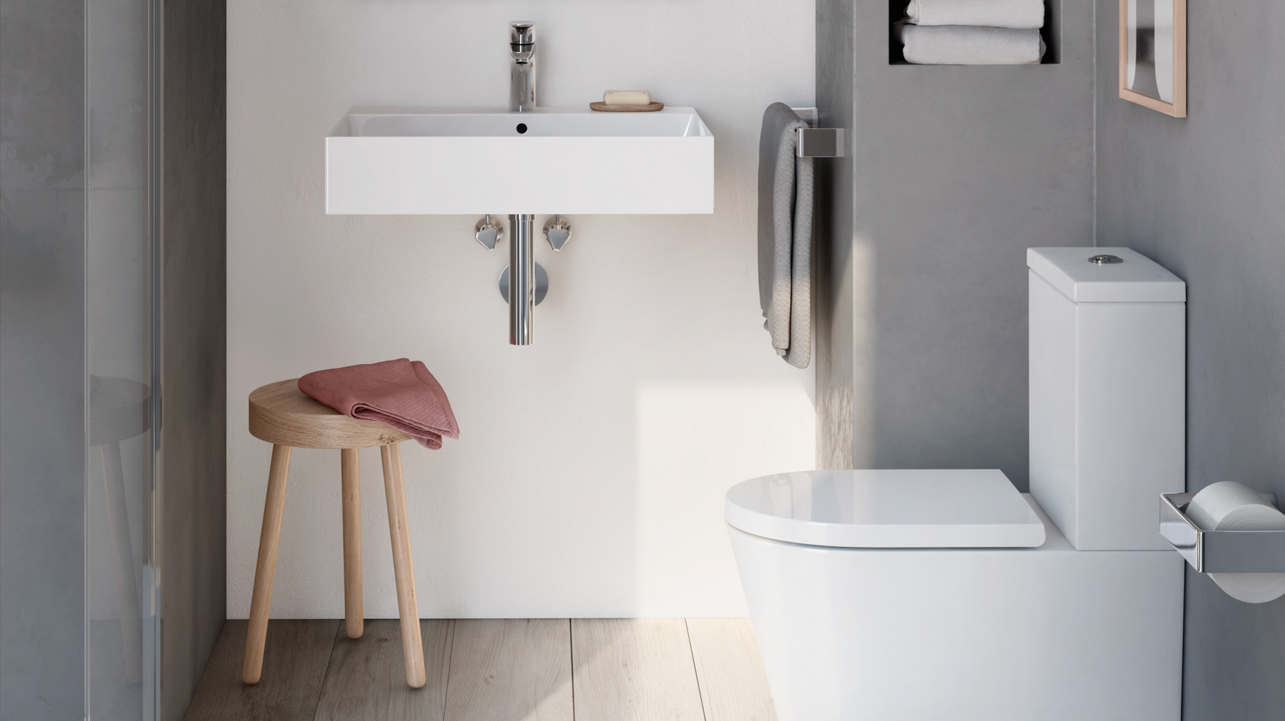Small bathroom with Inspira products by Roca
