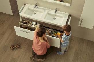 Prisma high-capacity bathroom furniture unit