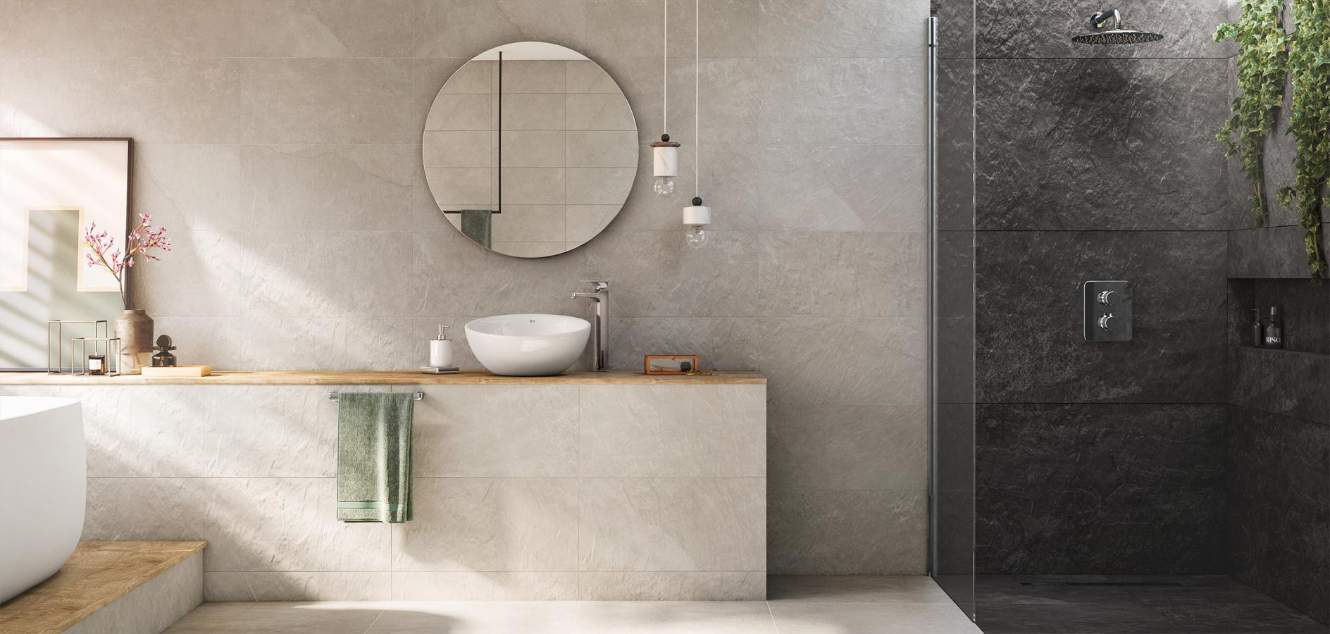 Bathroom And Kitchen Tiles Inspired By Stone And Wood Roca Life