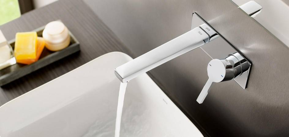Built-in faucets for shower and basin