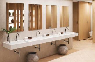 CUSTOM-MADE BASINS IN SOLID SURFACE