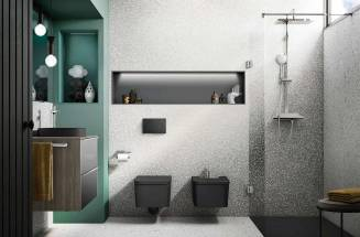 SENCERAMIC®: ROCA VITREOUS CHINA ANTISLIP SHOWER TRAYS